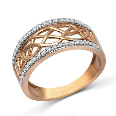 Designer Rose Gold Diamond Wedding Band Ring for Women