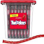 Twizzlers, Strawberry Twists Licorice Chewy Candy Tub, 33.3 oz, 105 Ct