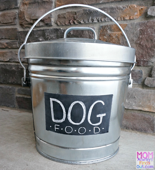 DIY Personalized Dog Food Container (Start with a Galvanized Steel Can!)