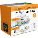Everyday Home 83-79 Vacuum Storage Bags-Space Saving Air Tight Compression-Shrin