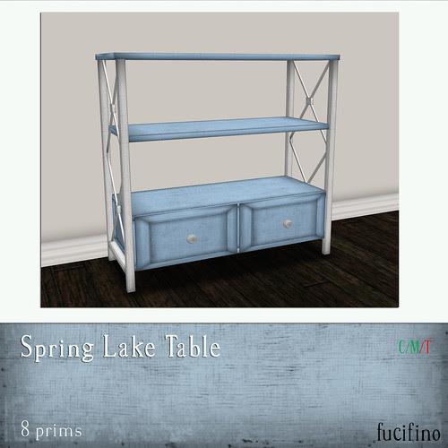 Fucifino.Spring Lake Table for ZombiePopcorn Brand