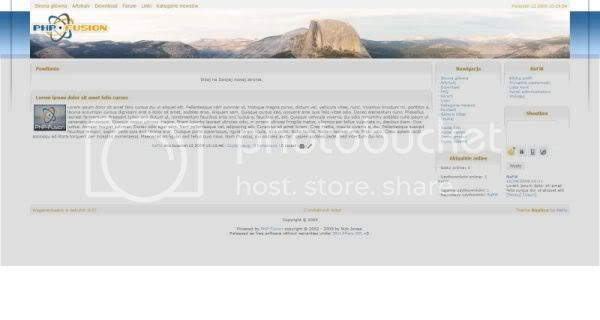 Free php-fusion Nature Mountaine Web2.0 Template