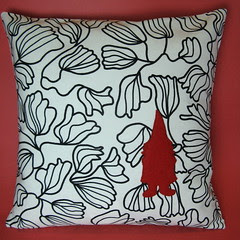 Gnome in the Flowers Pillow