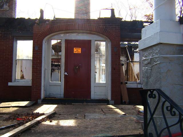 PB281988-2009-11-28-Goose-Burned-Paideia-School-Door