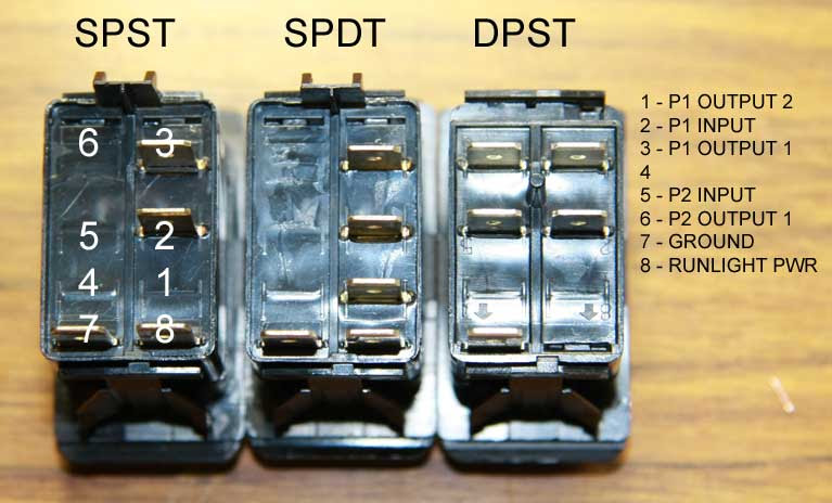 5 Pin Rocker Switch Wiring Diagram