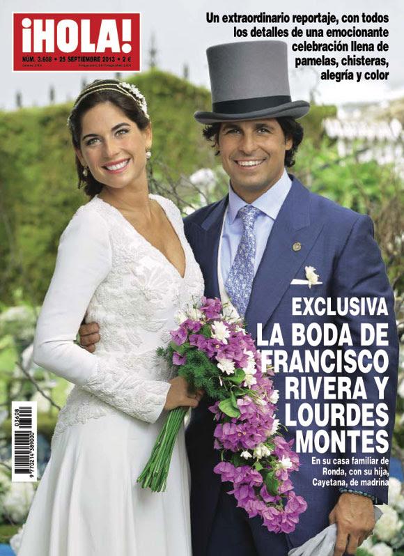 ¡HOLA! desvela su portada de mañana con la boda de Francisco Rivera y Lourdes Montes