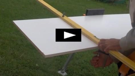 Couper une planche mélanine droite (bois, mélamine, tablette)