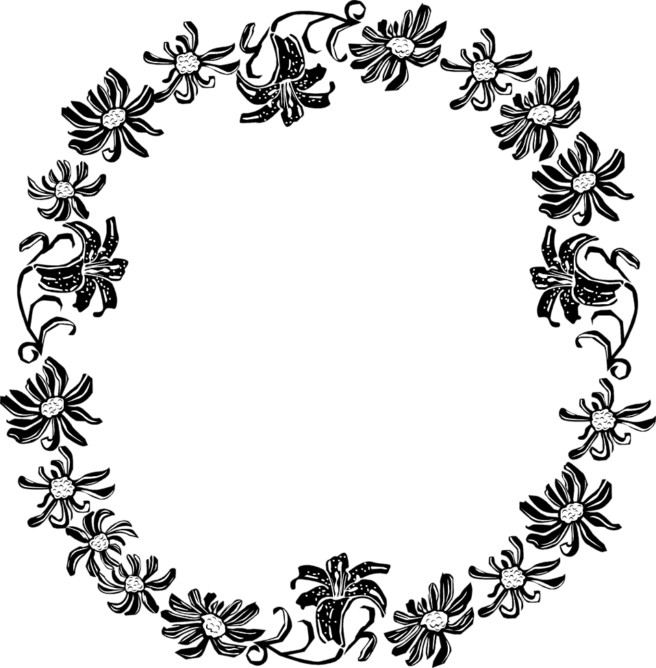 Border Flowers Free Stock Photo Illustration Of A Floral Frame