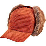 San Diego Hat Company Women's Wide Wale Corduroy Ball Cap Trapper Cth8128 Rust
