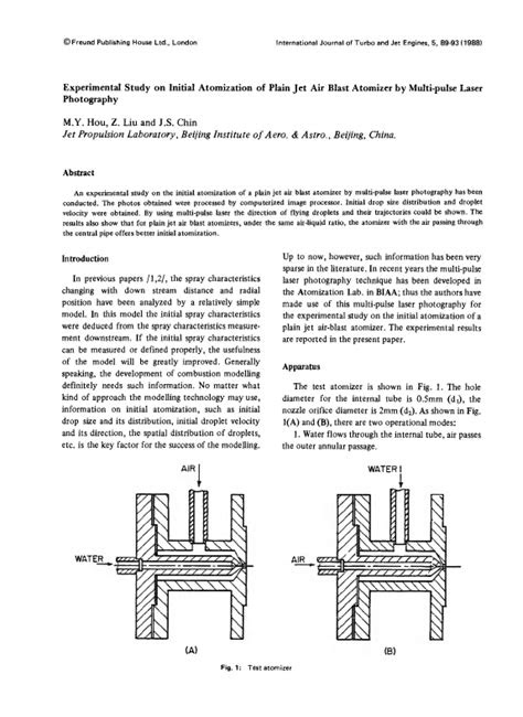 Experimental Study on Initial Atomization of Plain Jet Air