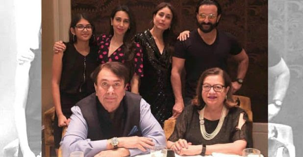 Kareena and Karisma attended the 72nd birthday bash of father Randhir Kapoor along with Saif Ali Khan