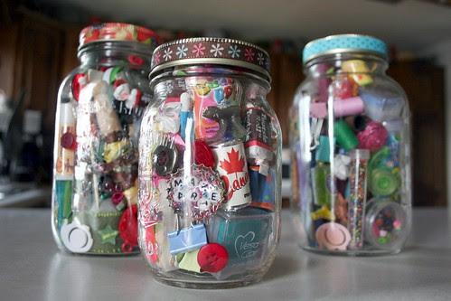 whimsy jars in progress