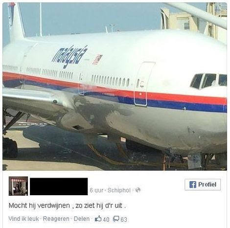 Dutch Flight 17 Passenger Takes Photo Of Plane Before Takeoff, Adds Cryptic Message