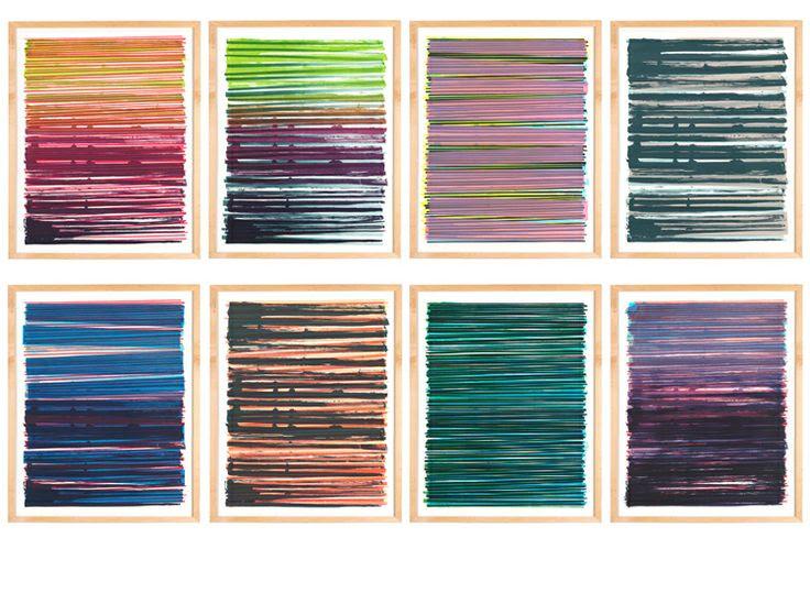 Dana McClure — Line Series Monoprint No. 15