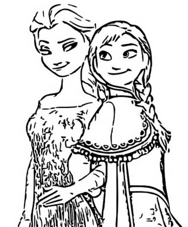 Coloring Page Frozen 2 Anna And Elsa 2