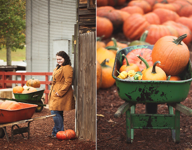 a rainy day trip to the pumpkin farm