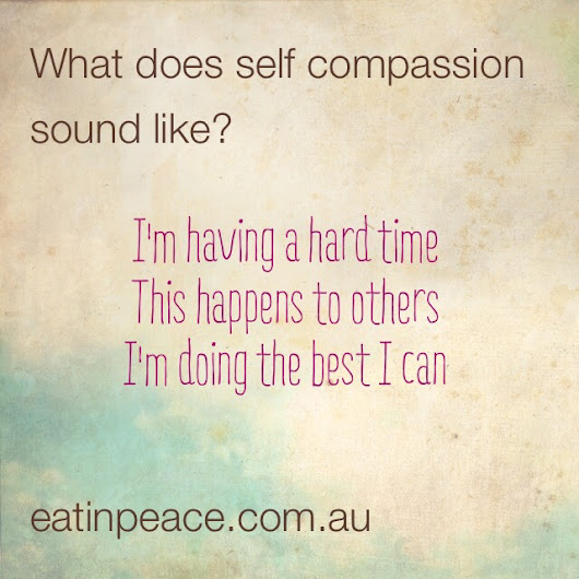 Compassion Inspired Eating for Eating Disorder Recovery