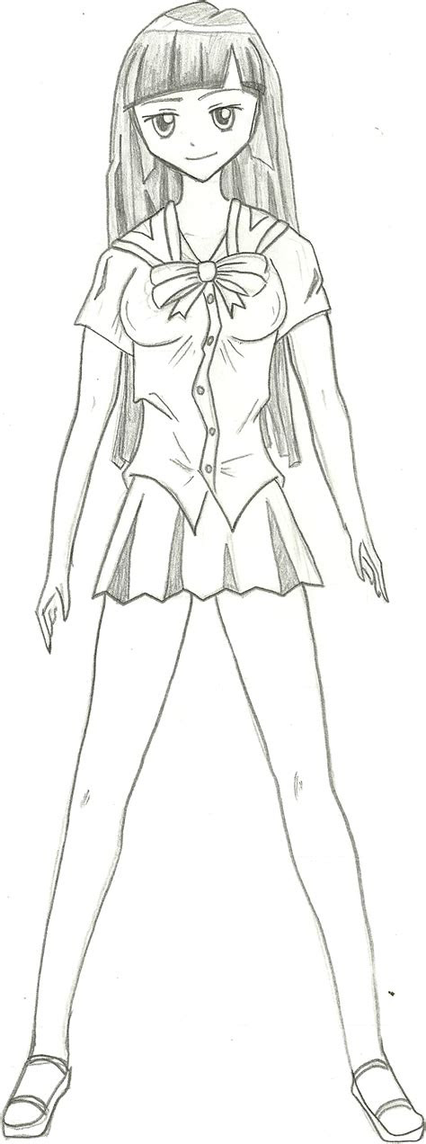manga girl body base sketch templates