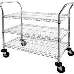 Sandusky Lee Chrome Wire Shelf Cart