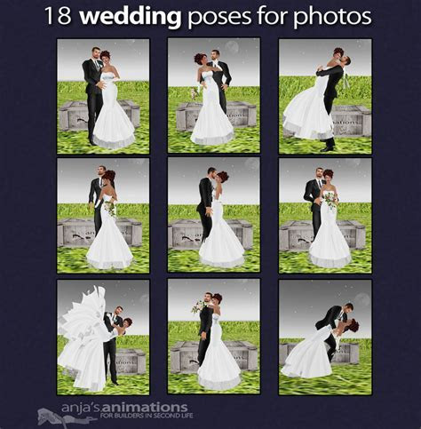 Poses for Wedding Photography ? copyright ? anja's animations