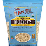 Bobs Red Mill Rolled Oats, Organic, Whole Grain, Old Fashioned - 32 oz