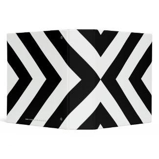 Black and White Chevrons 3 Ring Binders