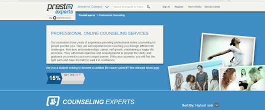 Online counseling for depression