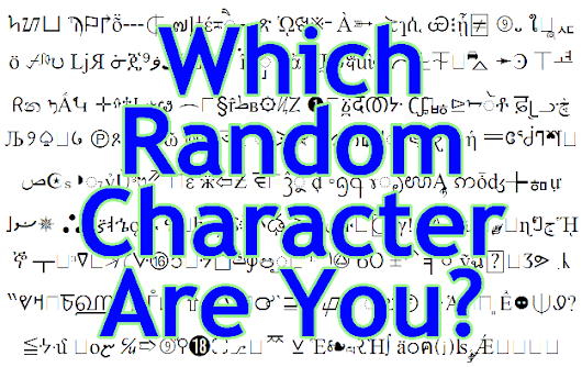 Which Random Character Are You?