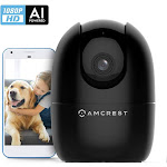 1080P Smart Home WiFi Camera, Baby Monitor, AI Human Detection, Motion-Tracking, Indoor Pet, Dog, N