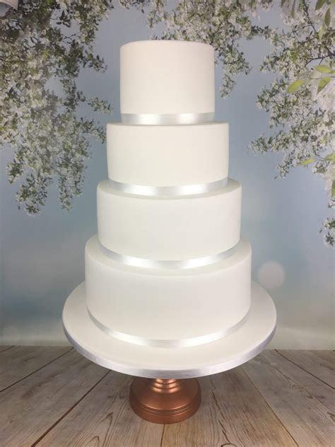 Elegant minimal white wedding cake   Mel's Amazing Cakes