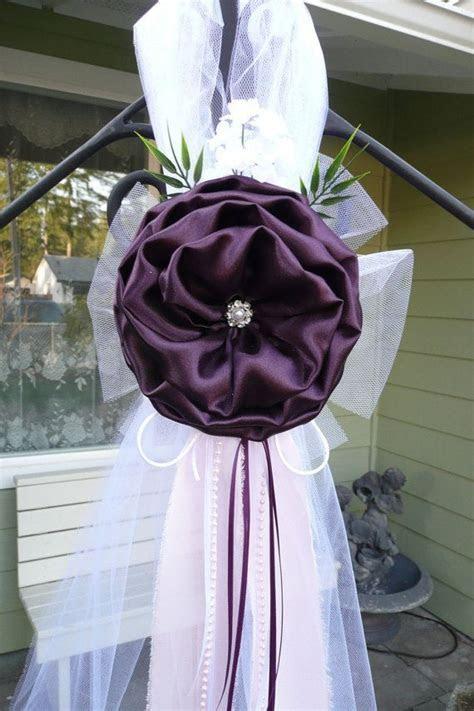 Plum Pew bows, Chair Bows, Elegant Wedding Bows Pew Church