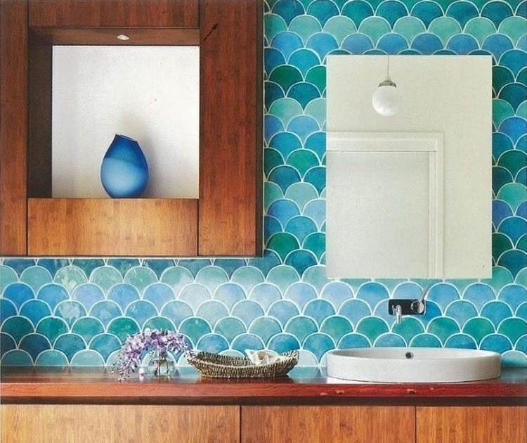 carrelage hexagonal bleu vert types