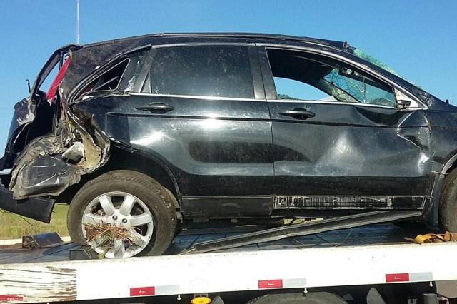 Família de argentinos sofre acidente de trânsito na BR-287 em Santiago Polícia Rodoviária Federal/Divulgação