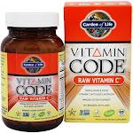 Garden of Life Vitamin Code Raw Vitamin C, 500 mg, Capsules - 60 count