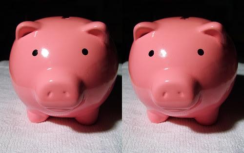 piggy bank ぶたさん貯金箱 (parallel 3D)