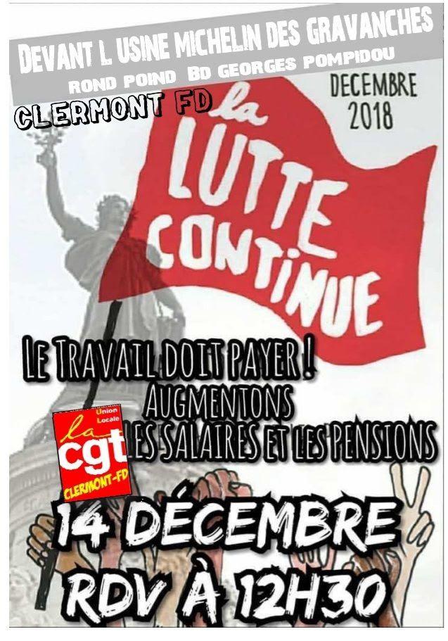 TRANSFORMONS la GROGNE en REVENDICATIONS : On se mobilise pour le 14 décembre à Clermont-Ferrand