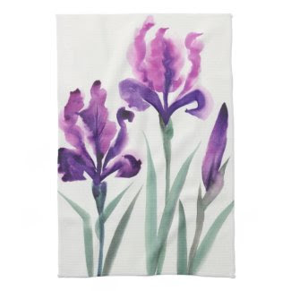 Irises Kitchen Towels