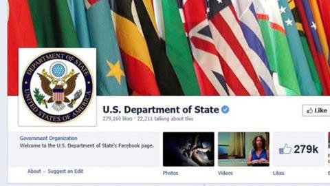 Bộ Ngoại giao Mỹ, 'câu like',Facebook