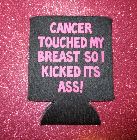 Breast Cancer touched my breast... Haha! Awesome!