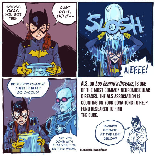 Batgirl ALS Ice Bucket Challenge