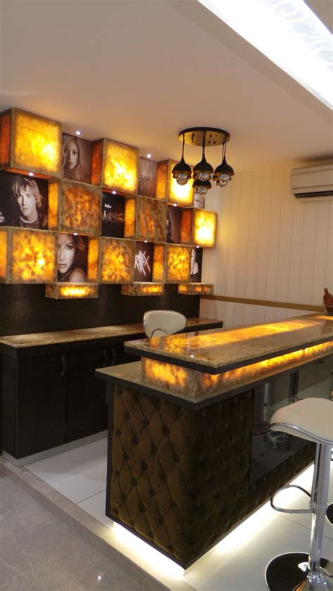 onyx marble bar counter designed  sonivipuldesigns