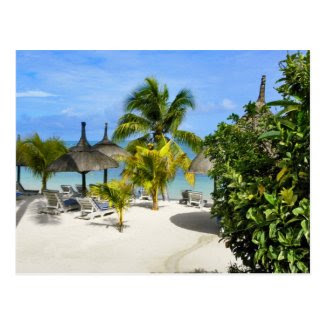 Exotic Tropical Beach Postcard