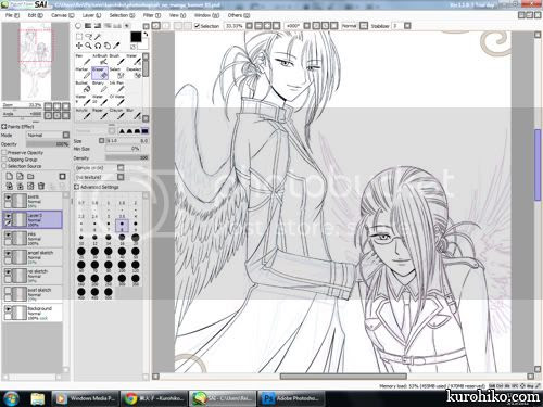work in progress 2012.05.15 - twin angel rei's