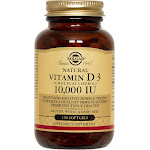 Solgar Vitamin D3 Softgels, 250 mcg (10,000 IU) - 120 count