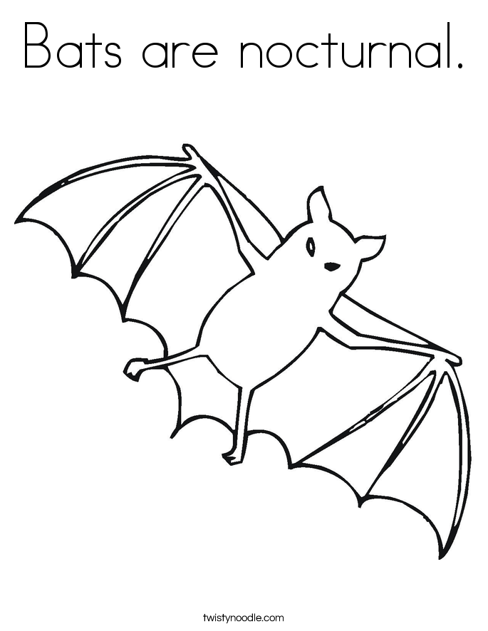 Bats are nocturnal Coloring Page - Twisty Noodle