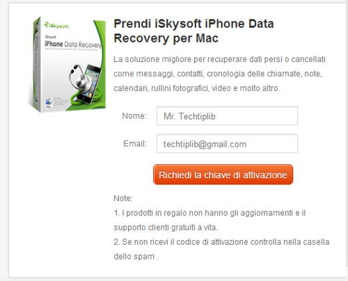 Giveaway of iSkysoft iPhone Data Recovery for Mac Techtiplib.com