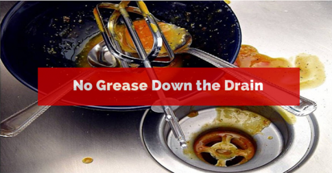 Guardian Plumbing — Never pour grease or cooking oils down the drain....