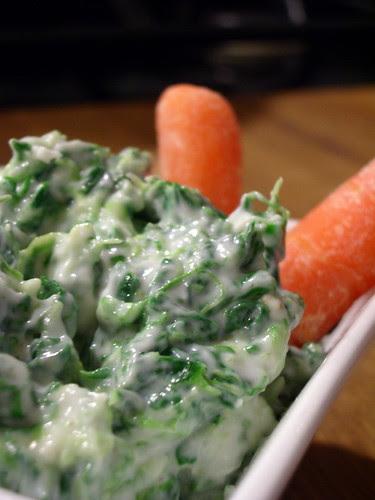 Skinny Creamy Spinach Dip