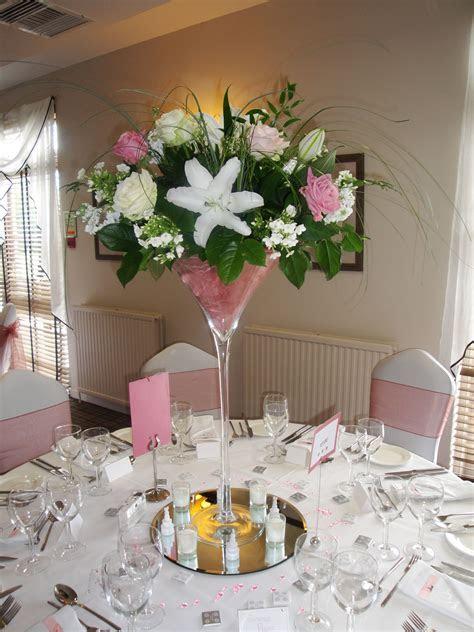 martini glass wedding table decorations   Google Search