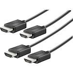 Insignia - 6' 4K Ultra HD HDMI Cable (2-Pack) - Black